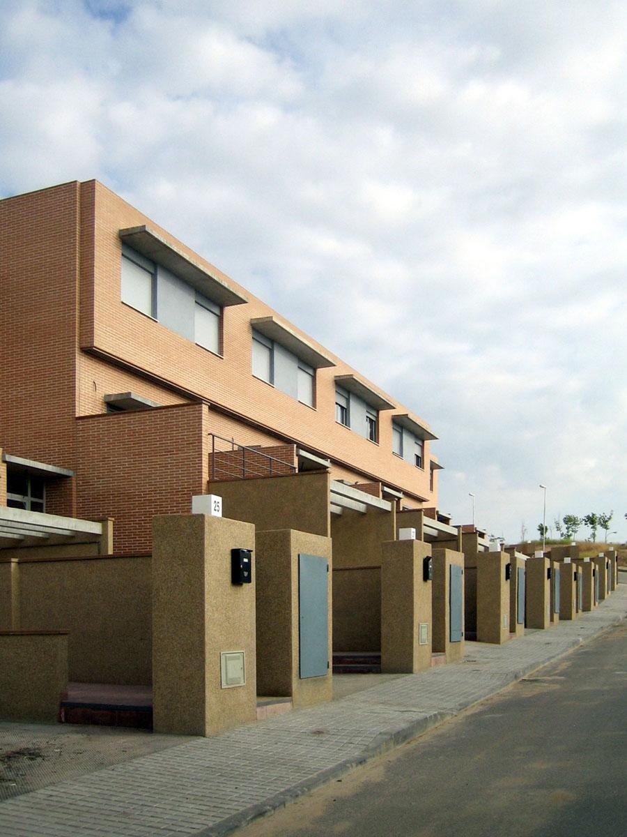 conjunto residencial de viviendas unifamiliares . urbanización